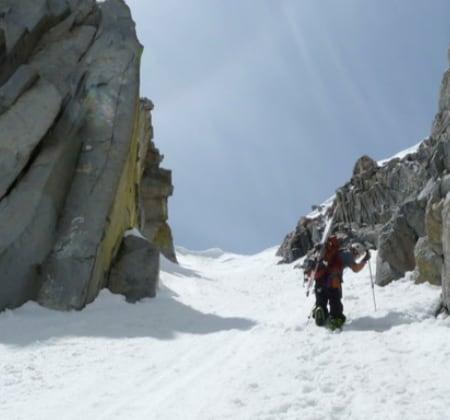 Sierra Nevada Couloir Skier