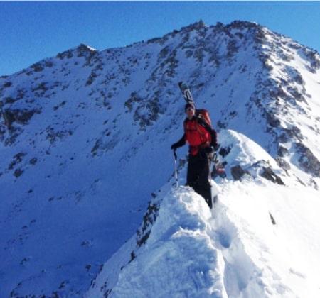 Lassen National Park Ridge Skier
